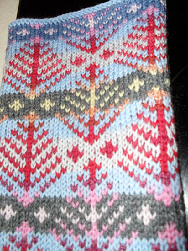swatch for body of sweater
