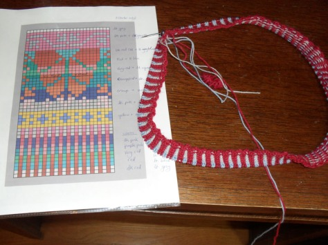 new cast on and pattern chart