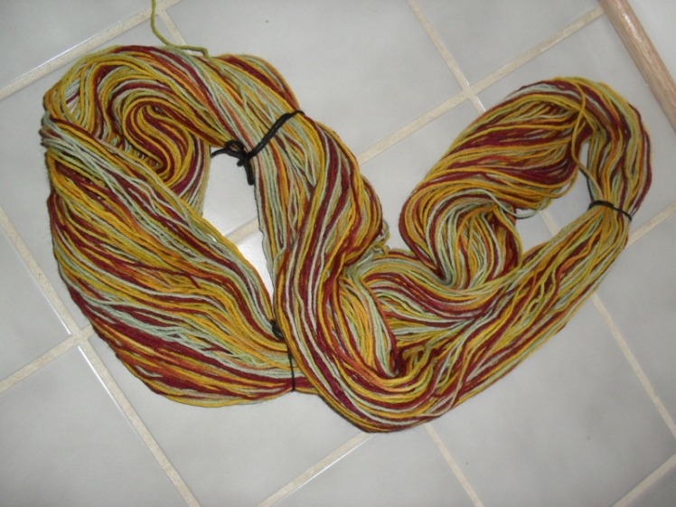 multicolored re-skein