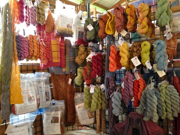 A corner in Clover Hill booth at MD Sheep and Wool