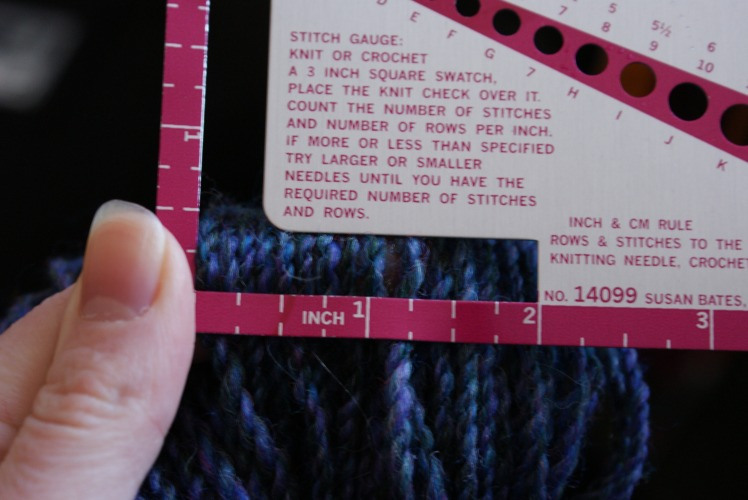 "My quick-and-dirty method for measuring WPI on a finished skein: stick a finger into the skein and line up some yarns gently across my finger. I know this isn't ""proper"", but since I'm enough of a beginner that my yarns are pretty uneven, it feels pretty pointless to measure WPI by wrapping a short length around something. This gets me a nice average across the skein if I try it in a few places. Does anyone else do this?"